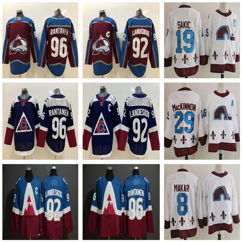 2021 Retro Colorado Avalanche Nathan Mackinnon Gabriel Landeskog Mikko Rantanen 8 Cale Makar Joe Sakic Stadyumu Serisi Hokey Jersey