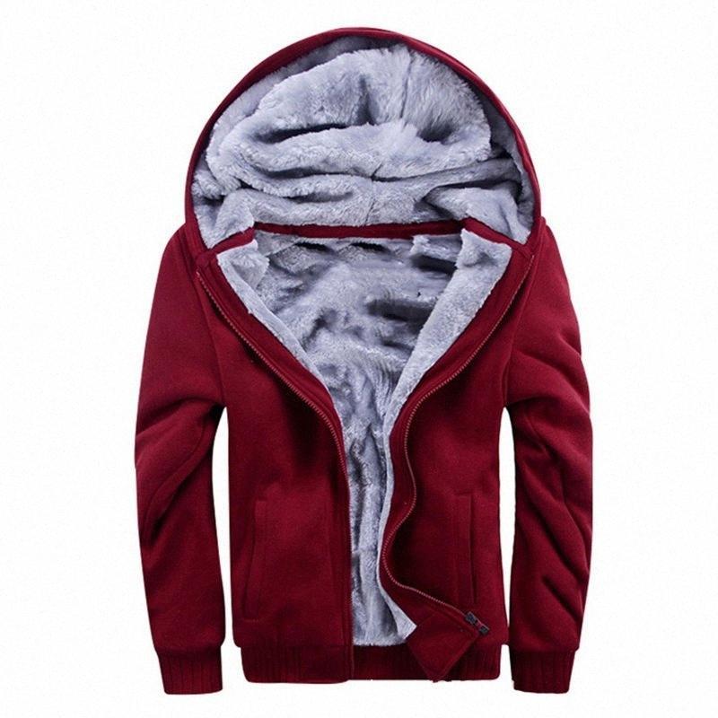 Мужские зимние толстовки Утолщенные Теплые пальто 2020 новых людей вскользь пальто Мода Zipper Solid Color руно с длинным рукавом куртки jtKL #