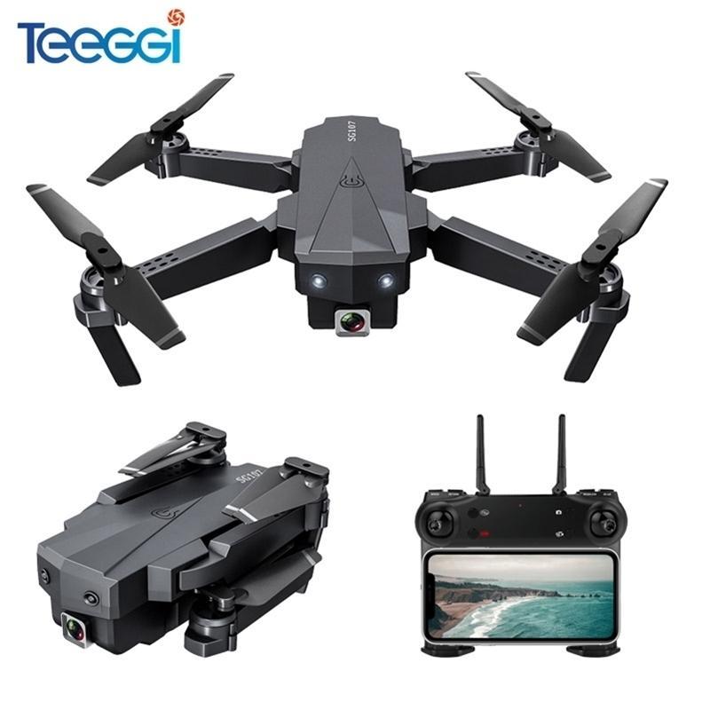 SG107 Mini RC DRONE FPV Quadcopter mit 4K Wifi 1080P FPV-Kamera 2.4GHz Quadcopter Optischer Durchfluss Quadrocopter Kamera Spielzeug VS E58 201221