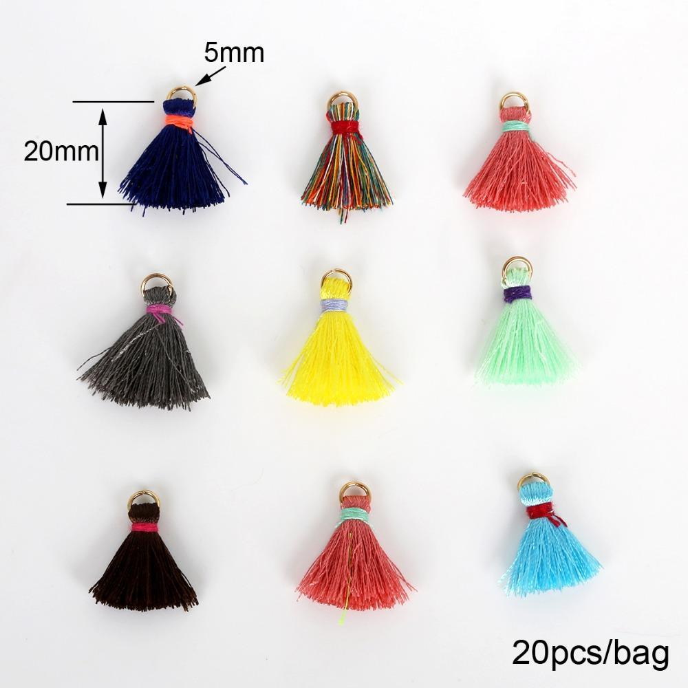 20 pcs colorido decorativo borla de seda laço guarnição de algodão tecido fita fita drop handmade cortinas de costura acessórios h jlltuv