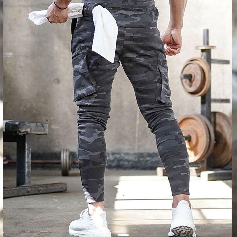 Camuflaje pantalones de hombre Marca Hombre Pantalones de gimnasia del basculador de los deportes al aire libre de algodón Casual aptitud para hombre Tamaño de la ropa: M-2XL, za394