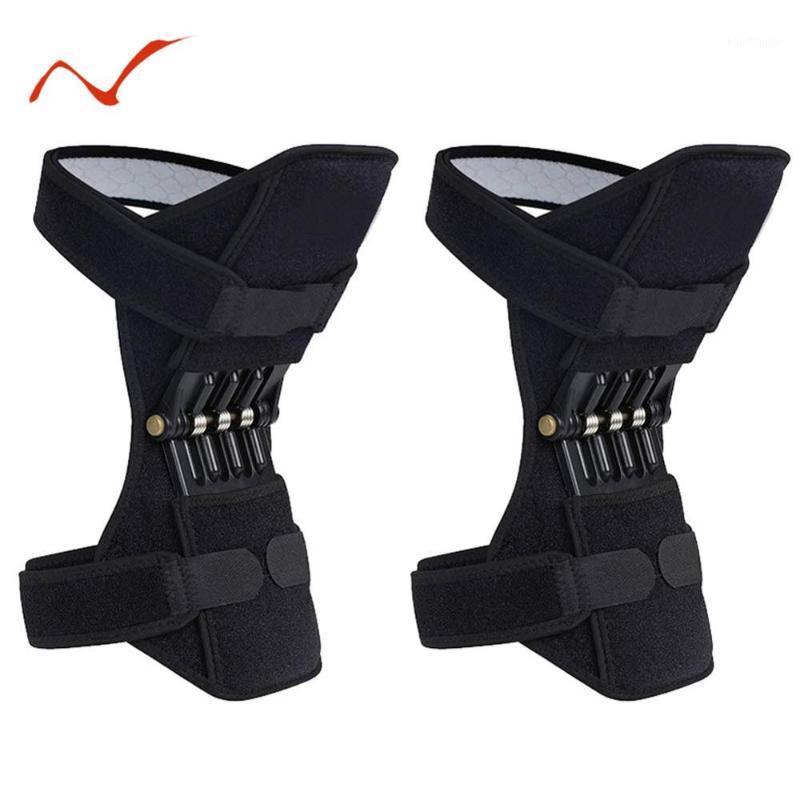 Дышащая воздухопроницаемая носительная колодки для поддона на коленях Защитные спортивные колен стабилизаторы PADS Power Enhancer1