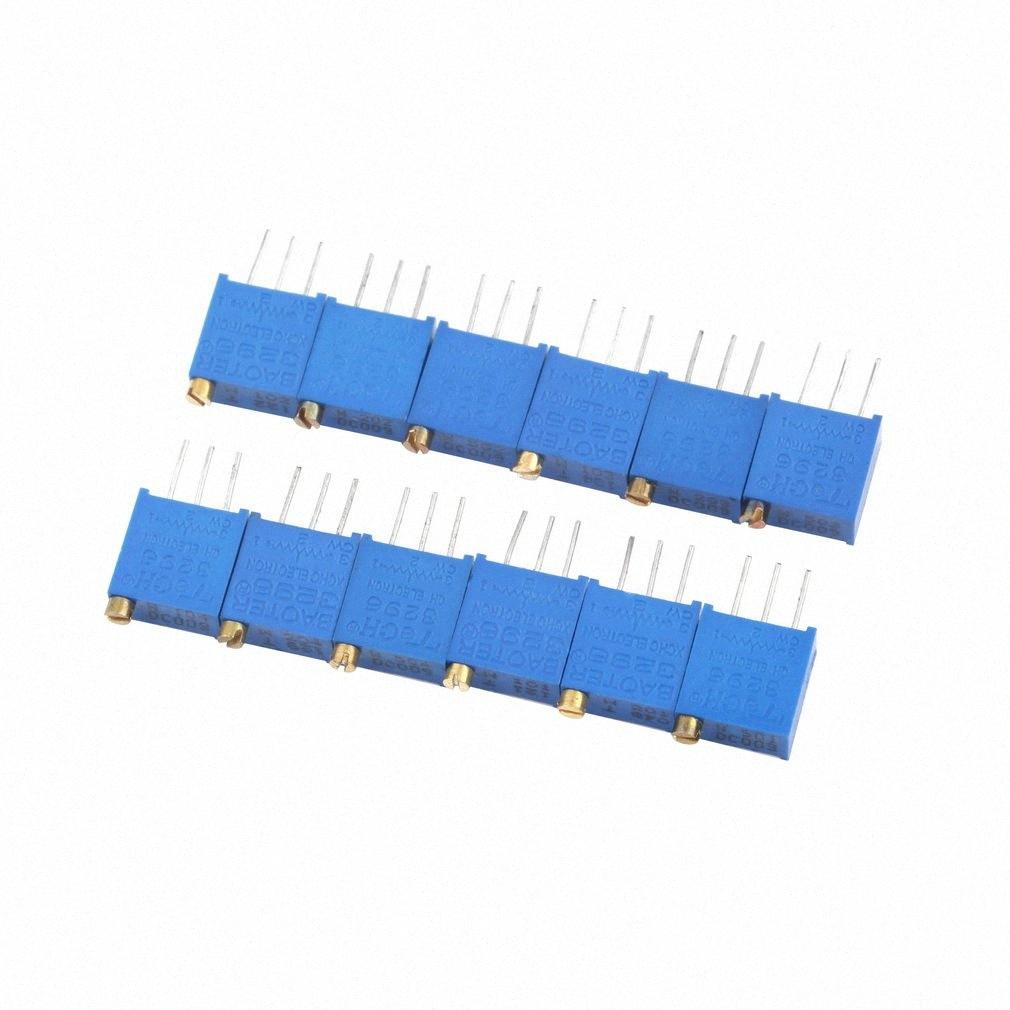 Wholesale-Worldwide 5pcs Potentiometer Assorted Variable Resistor Resistive 3296 W 12values aUQw#