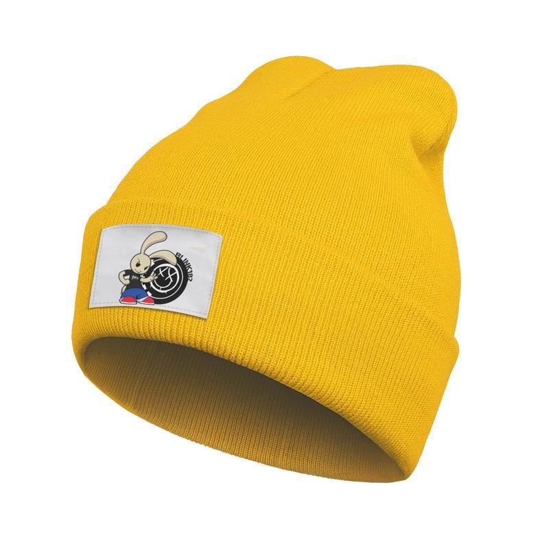 Unisex Fashion Beanie Skull Hats rock music Blink 182 Rabbit Slouchy Vintage Knitted Cap