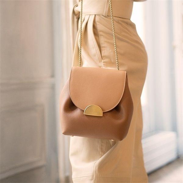 Luxury Designer Bucket Bags New 2020 Small Chain Handbags Women Leather Shoulder Lady France Famous Brand Cross Body Bag Q1104