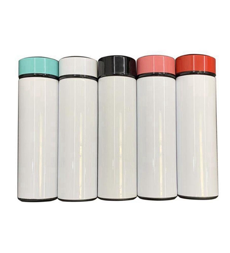 17Oz Vakuum DIY Wärmeübertragung Drucken Wasserflasche Blanker Sublimation Temperaturanzeige Wasserflasche 500ml Edelsteine Bottle LLA93