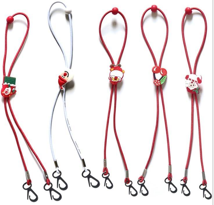 25CM di Natale Mask cordino regolabile Lunghezza Viso Extender Strap For Kids decorazioni di Natale Babbo Natale del fumetto con cordini di protezione