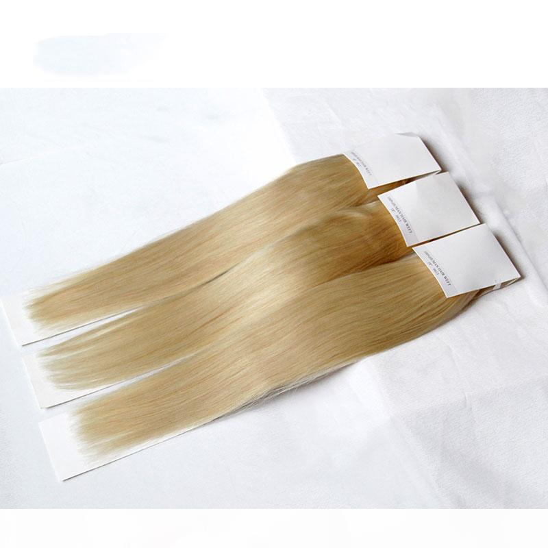 Bleach Loira Russo Virgem Cabelo Cabelo Reta 613 Grau 8A Cabelo Humano Tecer Pacotes Remy Hair Extensions 3 4 pcs Lot 12-30inch Double WeT