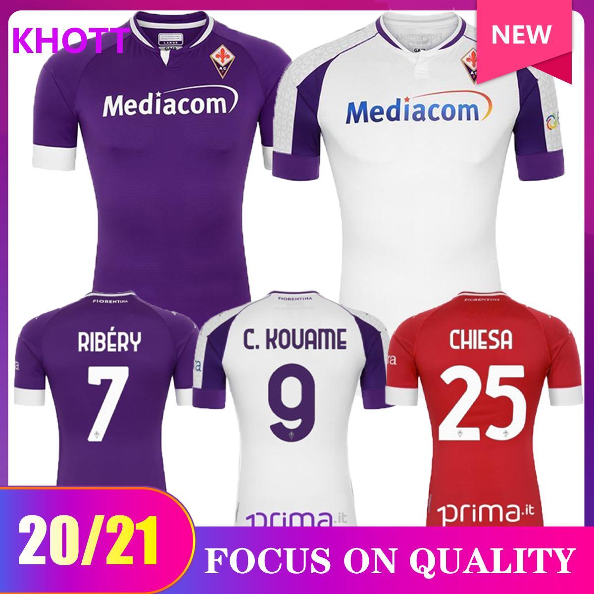 Thailandia 2021 2020 Firenze Ribery Jersey 20 21 Fiorentina Benassi 24 Biraghi 3 Chiesa 25 Simeone 9 Ribery 7 Home Soccer Jersey