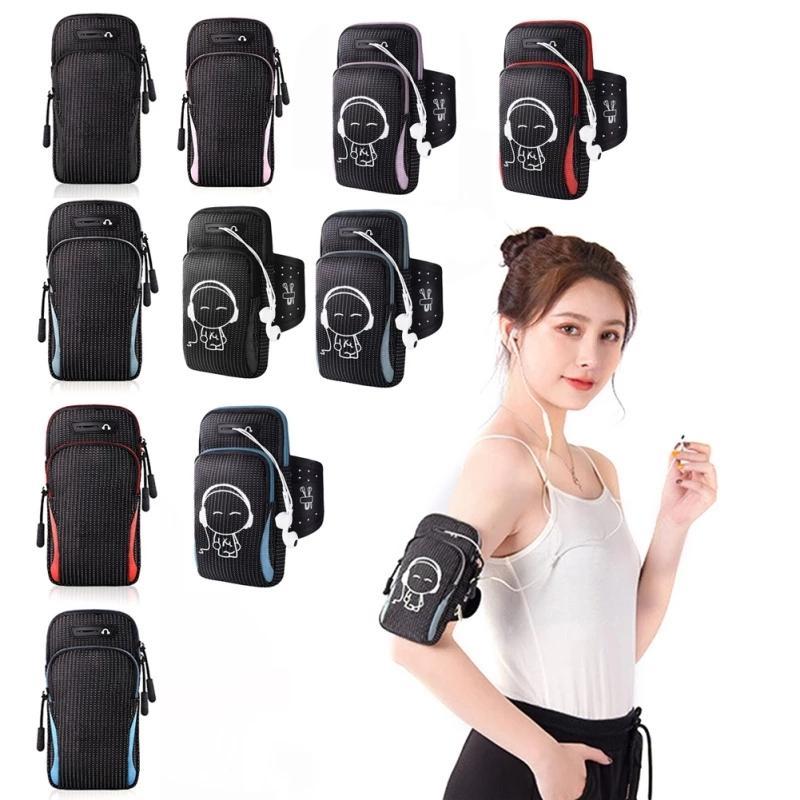 Запуск Мужчины Женщины рука сумки телефон Деньги Ключи Спорт на открытом воздухе Arm Пакет сумка с гарнитуры Отверстие для 4-6.5 дюйма телефон