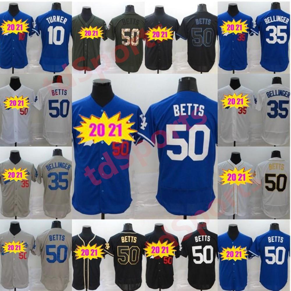 Dodgers Jersey La All-Star Game Mens 35 Cody Bellinger 50 Mookie Betts Jerseys de béisbol Stiched Name NUMBRE ANS En stock