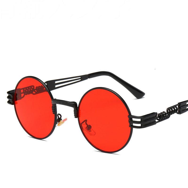 Солнцезащитные очки мужские аксессуары круглые мужские мужские очки для покрытия стеклянные металлические ретро по достоинству, стимпанк роскошь винтажном