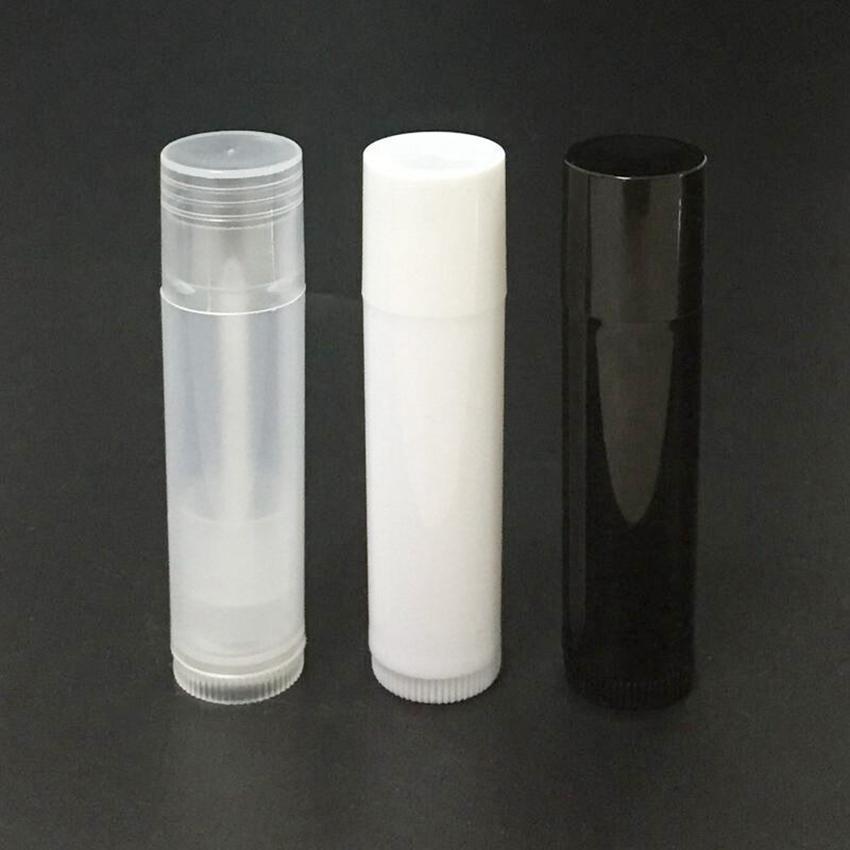 5G التجميل إفراغ شفاه أحمر الشفاه ملمع الشفاه بلسم أنبوب وقبعات الحاويات أسود أبيض اللون واضح FWF1228