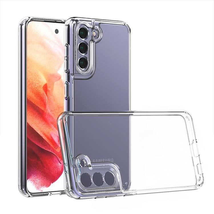 Casos de telefone para Samsung S21 PLUS A72 A52 A32 A02 A02S caso com proteção de câmera Cobertura de fundo móvel acrílico