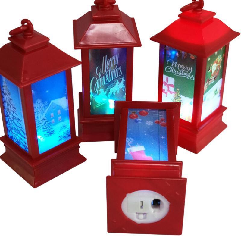 Рождество LED подсветка Night Light Атмосферы Декоративные Prop Пластиковые светящиеся свечи Сепараторы House Фестиваль Декор