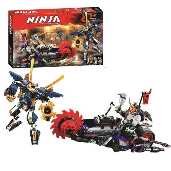 565pcs Ninjagoed Killow 대. Samurai X Mecha 모델 빌딩 블록 인물 장난감 DIY 어린이 선물 C1114
