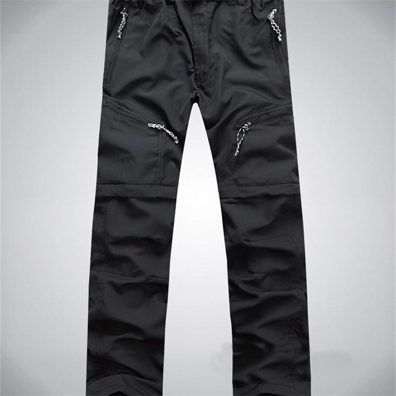 Мужчины быстрые брюки съемные HikingCamping брюки мужские летние дышащие охотничьи брюки S-XXXL 4 цвета 201211