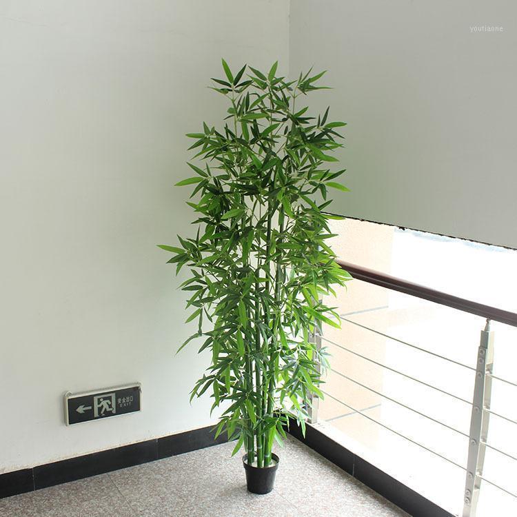 Искусственный бамбук 6 шт. 150см / 180см Поддельный бамбук без горшкой Зеленьейщик Офис Гостиная Украшения Поддельное растение1