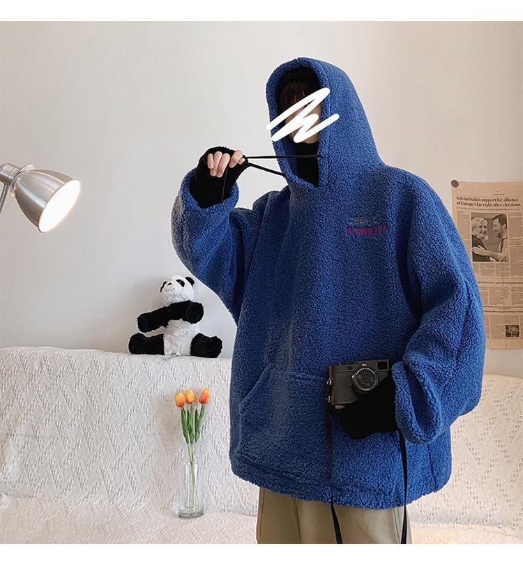 Frühling und Herbst 20ss Männer Stylist Hoodies gefälschte Cashmere In Hoodie Art und Weise lose warme Pullover für Männer und Frauen Langarm Outwear
