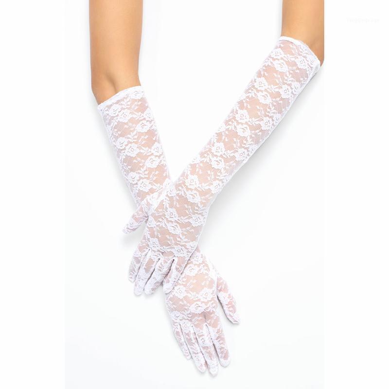 Пять пальцев перчатки женские кружевные тюль длинные полумесячные партии варежки женские аксессуары летняя мода 2021 1