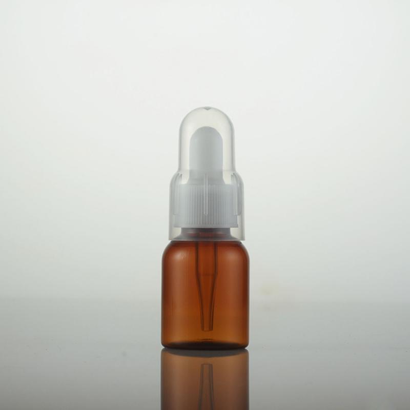 100PCS / LOT 25 مل زجاجات زيت البلاستيك، PET زجاجة عطر قطارة حاويات مستحضرات التجميل فارغة