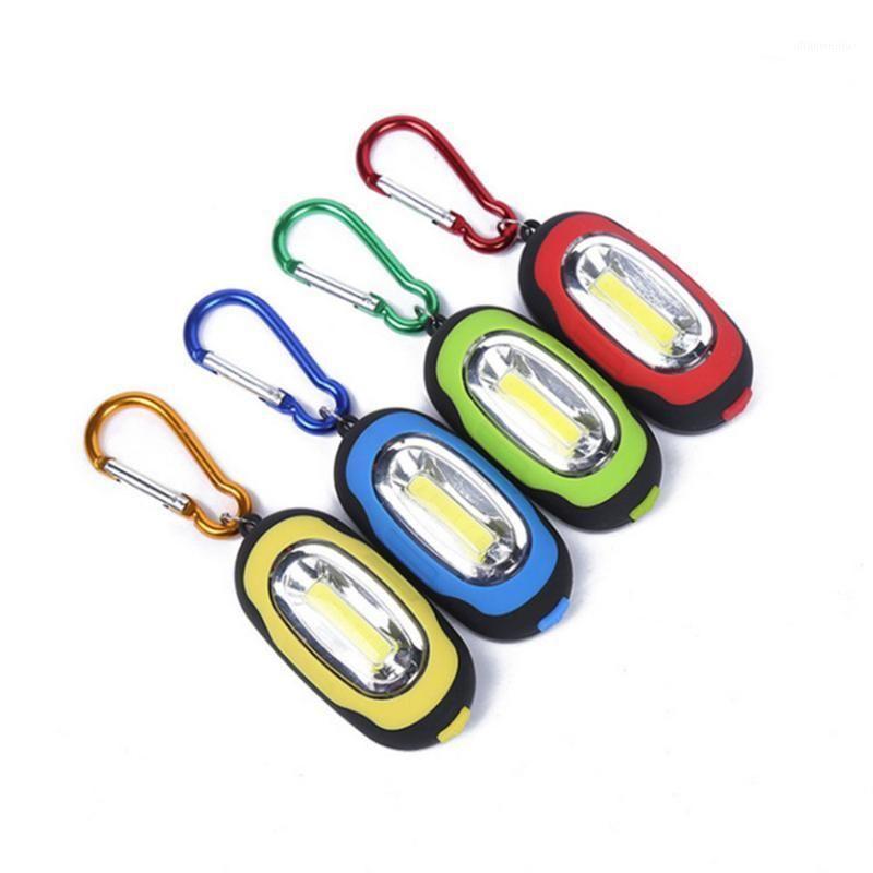 Фонарические фонари Горелки Портативный Мини-брелок Pocket Pocket Forich 3 Режимы Светодиодные Светодиодные Лампы Мультицветный Фонарик с Кнопка Battery1