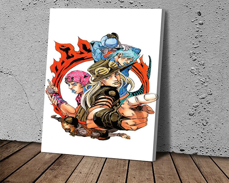 Canvas Print Wall Art Painting Art Picture JOJO's Wonderful Adventure Animation Poster for Living Room Home Decor