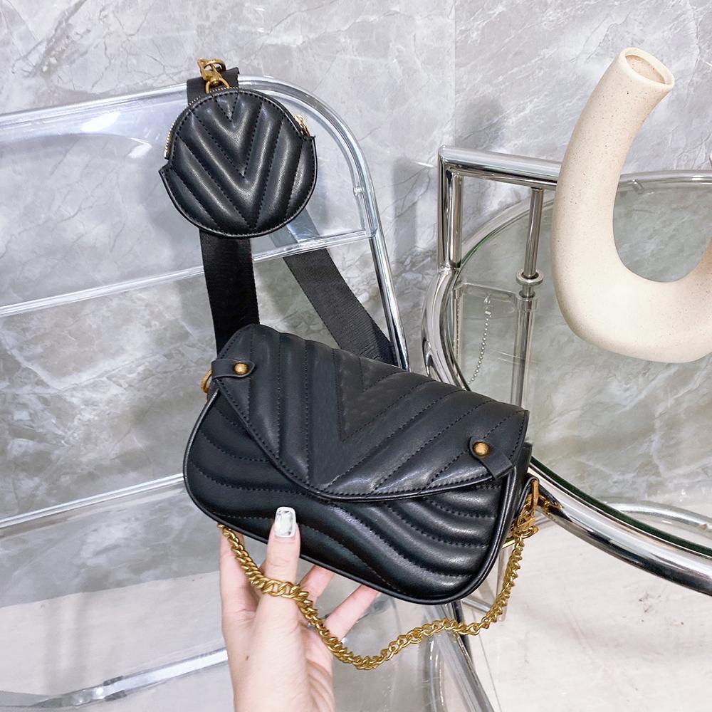 5A + Shoulder Bags Totes Borsa delle donne borse delle donne Tote Borsello increspa borse in pelle frizione Zaino Portafoglio Moda Fannypack