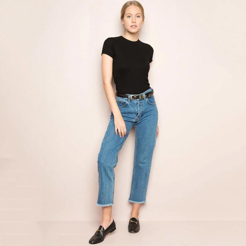 Kadın Kot Kadınlar Yüksek Bel Püskül Harem Denim Pantolon Vintage Saçak Bileği Uzunlukta Marka Pantolon Artı Boyutu Femme Moda Erkek Arkadaşı