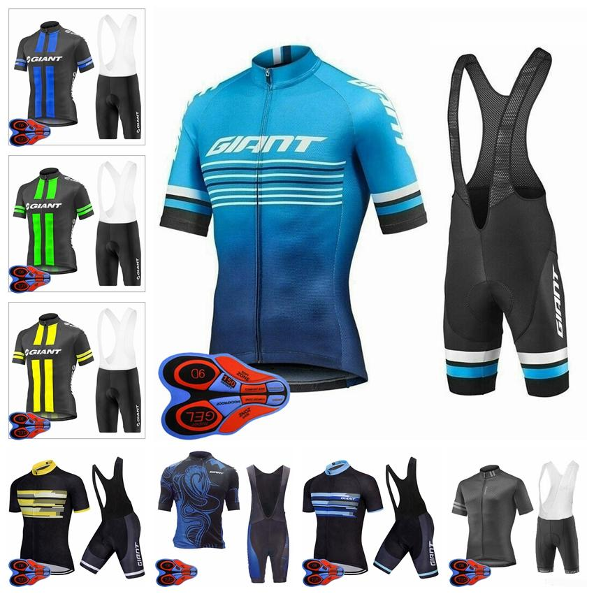 Dev Takım Erkek Yaz Bisiklet Kısa Kollu Jersey 9D Önlüğü Şort Set Nefes Bisiklet Giyim Açık Sportwear Ropa Ciclismo F072216