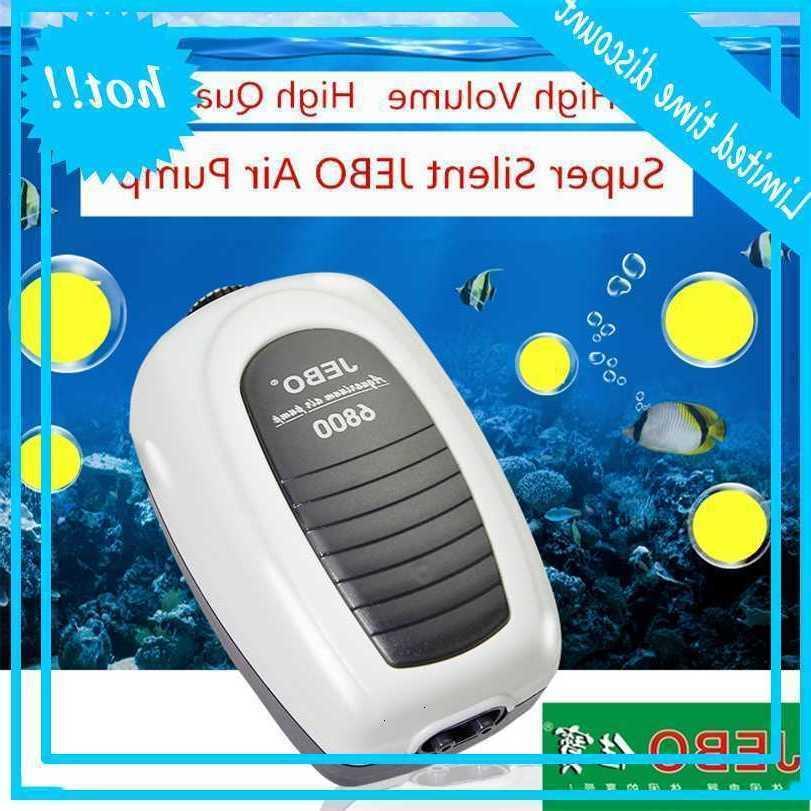 Jebo Super Pump ضاغط ل خزان الأسماك قابل للتعديل الهدوء التحكم في الهواء الحوض الملحقات 6100