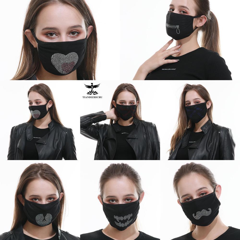 waschbar staubdicht Modische X0D0 Herren-Universal-Frauenmaske, Sonnenschutz und atmungsaktiv bedruckten Baumwollmaske im Sommer