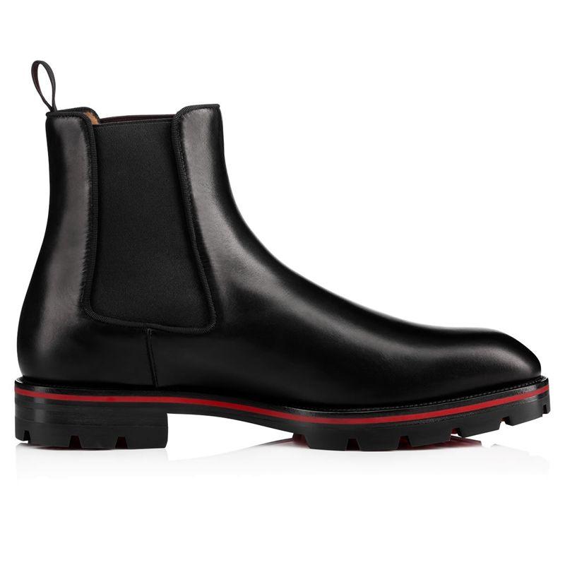 Nueva moda Superstar Diseñador Chunky talón del tobillo botines otoño West Zapatos de Hombre Crepe Botas Negro Marrón táctico plana de arranque