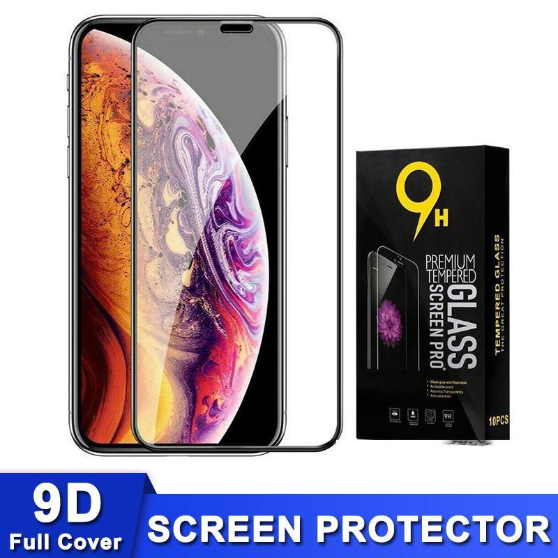 US Warehouse iPhone 12 11 Pro Max XR X XS 전체 커버 9D 0.3mm 9H 보호 필름 7 8 플러스 6 6s