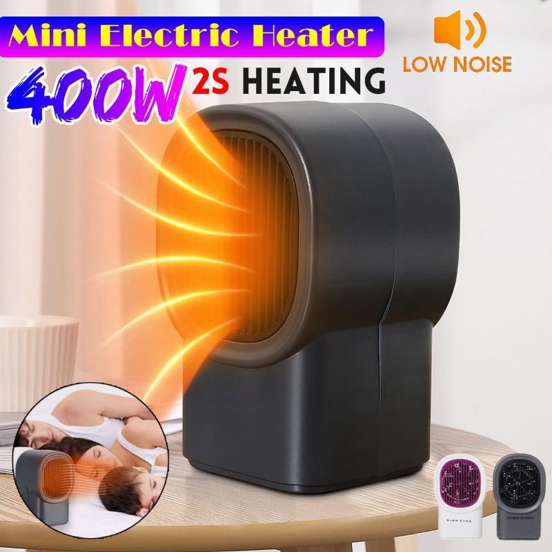 400W Mini Electric Heaters Fan Fast Heating Power Saving Countertop Mini Home Room Desktop Handy Warmer 110V/220V