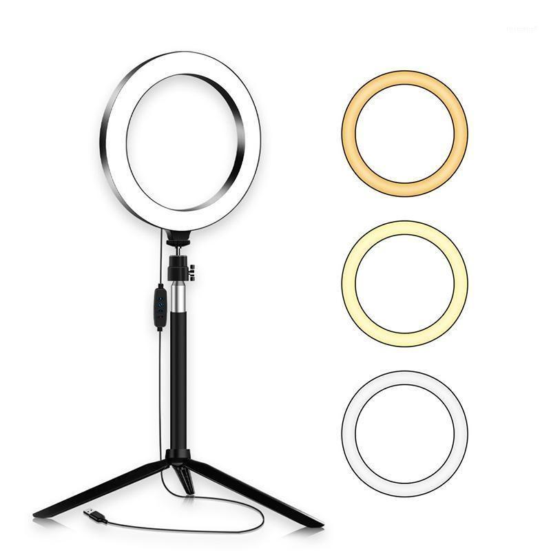 Hot-Led Red Light Net Celebrity Live Broadcast Soporte portátil y liviano Live Beauty Selfie 20cm Ring Rell Light1
