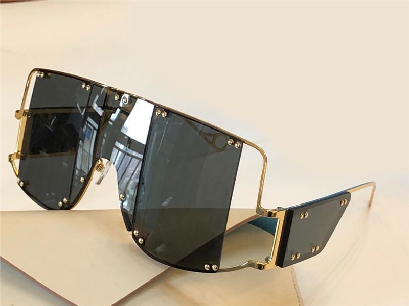 10040 نظارات شمسية موضة جديدة مع حماية الأشعة فوق البنفسجية للرجال والنساء خمر ساحة المعادن إطار متكامل شعبية أعلى جودة تأتي مع القضية