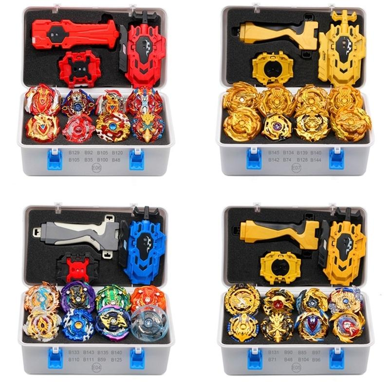 2019 Gold Takara Tomy Launcher Beyblade Rurst Arean Bayblades Bakable Set Box Bey Blade Toys for Child Metal Fusion New Gift LJ201216