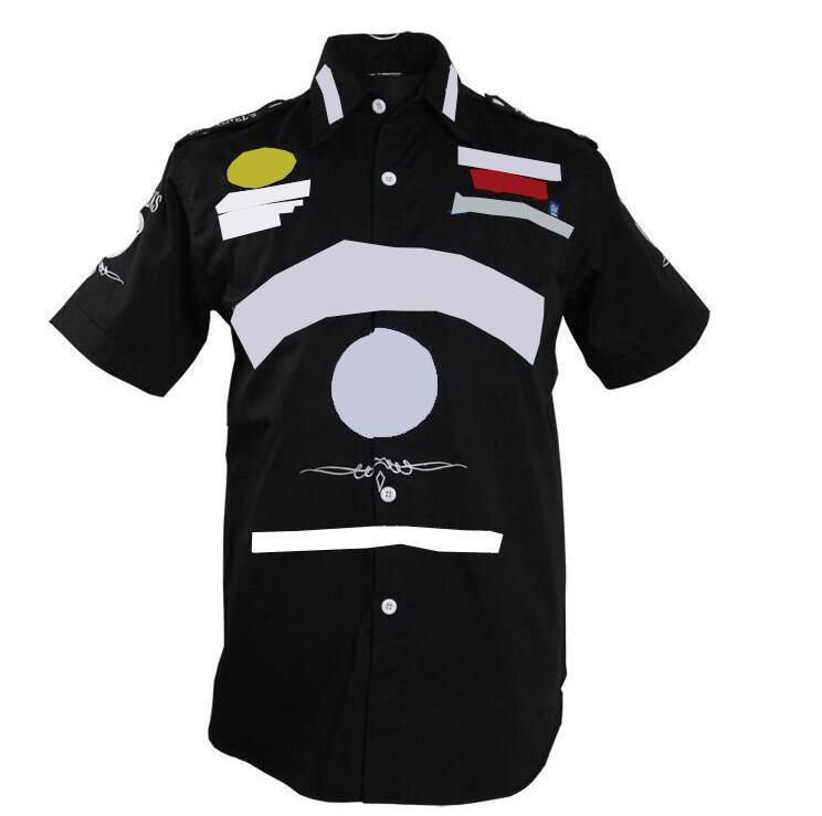 صيغة F1 سباق بدلة قصيرة الأكمام قميص سيارة بدلة سباق البدلة قصيرة الأكمام تي شيرت