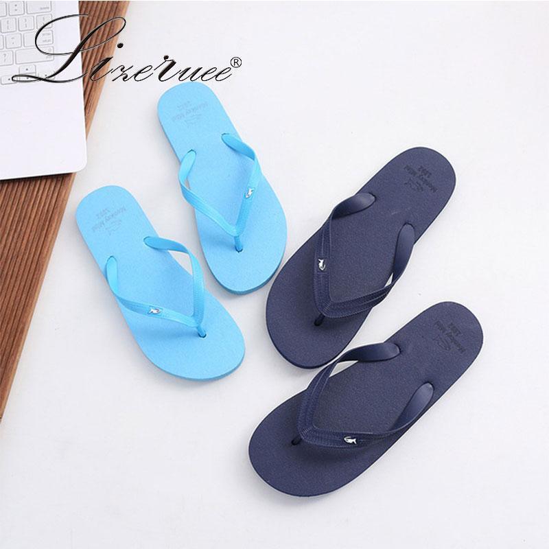Lizeruee мужские тапочки Beach Flip PLOPS SOODALS LOVERS SLIP на слайдах Крытый домашний тапочки женщин квартиры повседневные туфли пара1