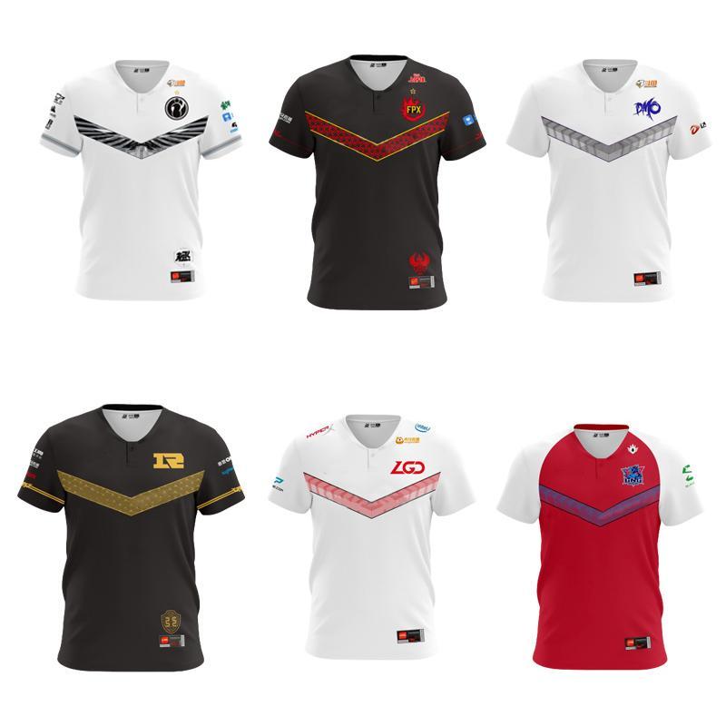LOL LPL 2020 Esports Jersey IG RNG EDG WE OMG TES JDG Jogador Jersey Uniform Nome ID personalizado camisetas Homens Mulheres personalizado Camiseta 1005