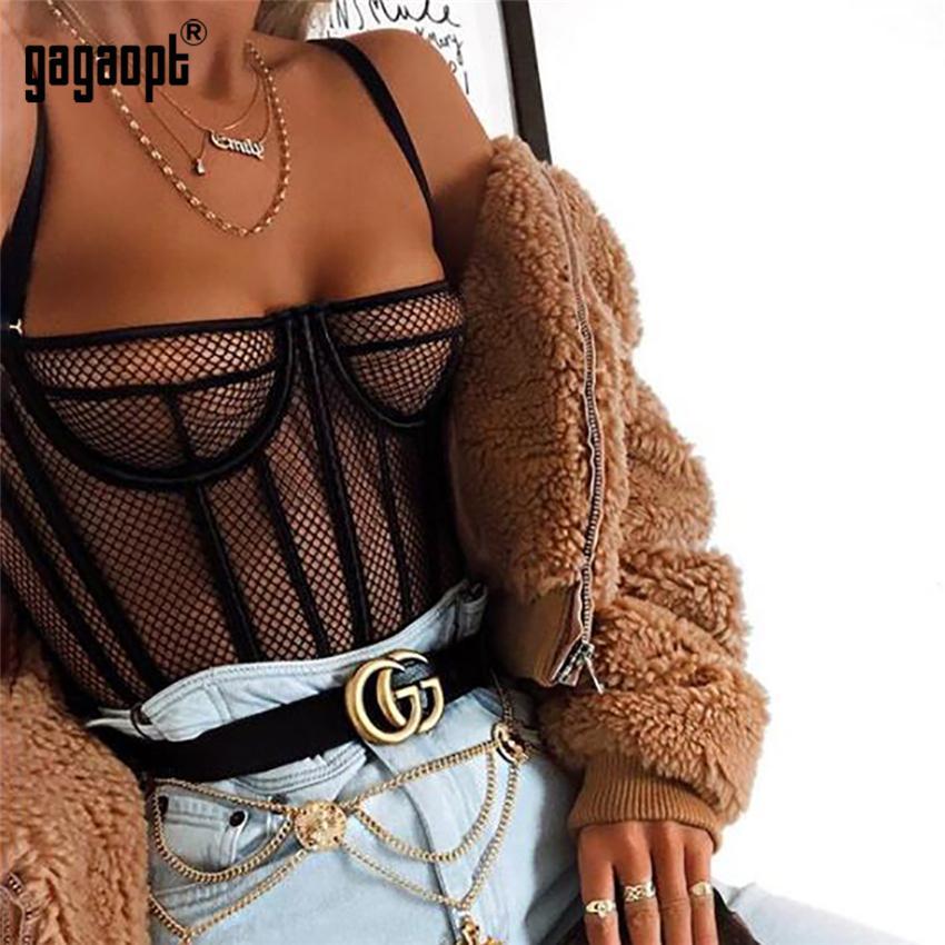 Gagaopt 2019 primavera malla traje mujer moda perspectiva sexy body rayado negro body club y200701