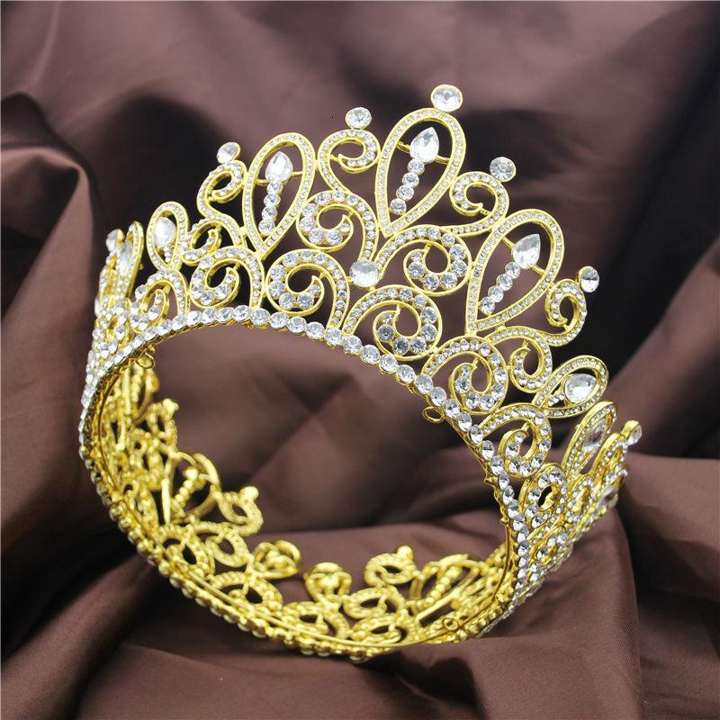 Large Pageant Crown Wedding Head Jewelry Bridal Headdress for Women Prom Big Tiaras Crystal Diadem Bride Hair Accessories