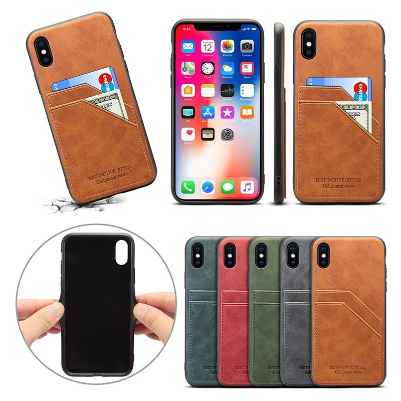Business Phone Case für iPhone 12Pro 11 XR 7 8 Brieftasche für Samsung Note20 S20 Huawei P40 Mate30 Großhandel
