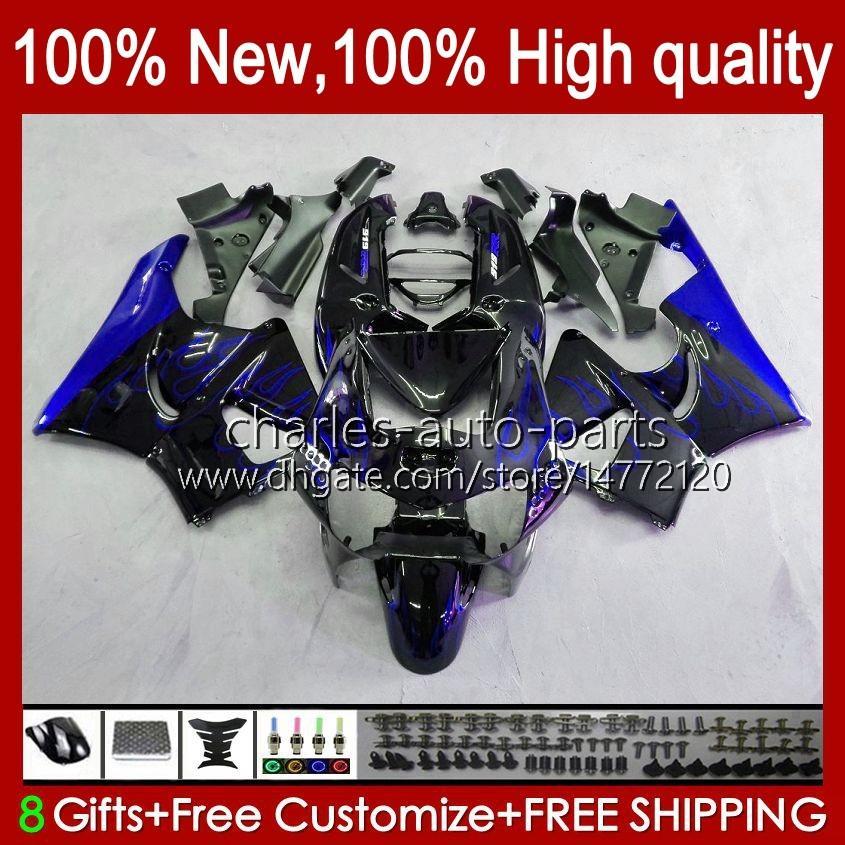 Body Blue Flames Kit voor Honda CBR919 CBR900 RR CBR900RR CBR 919RR 900RR 919CC 93HC.110 CBR919RR 98 99 CBR 900 919 CC RR 1998 1999 Kuip