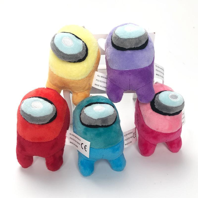 Peluche juguete caliente anime juego entre los EEUU Keychain Trust nadie entre los juguetes de peluche peluche Bolsa de muñecas de peluche Llavero Colgante Regalos de Navidad Red Pequeño Plushie