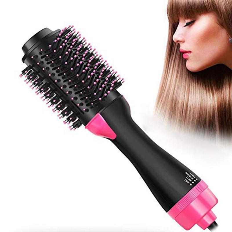 Escova de secador de cabelo escova de ar quente 3 em 1 eléctrico um passo íon negativo de cabelo enrolamento endireitamento