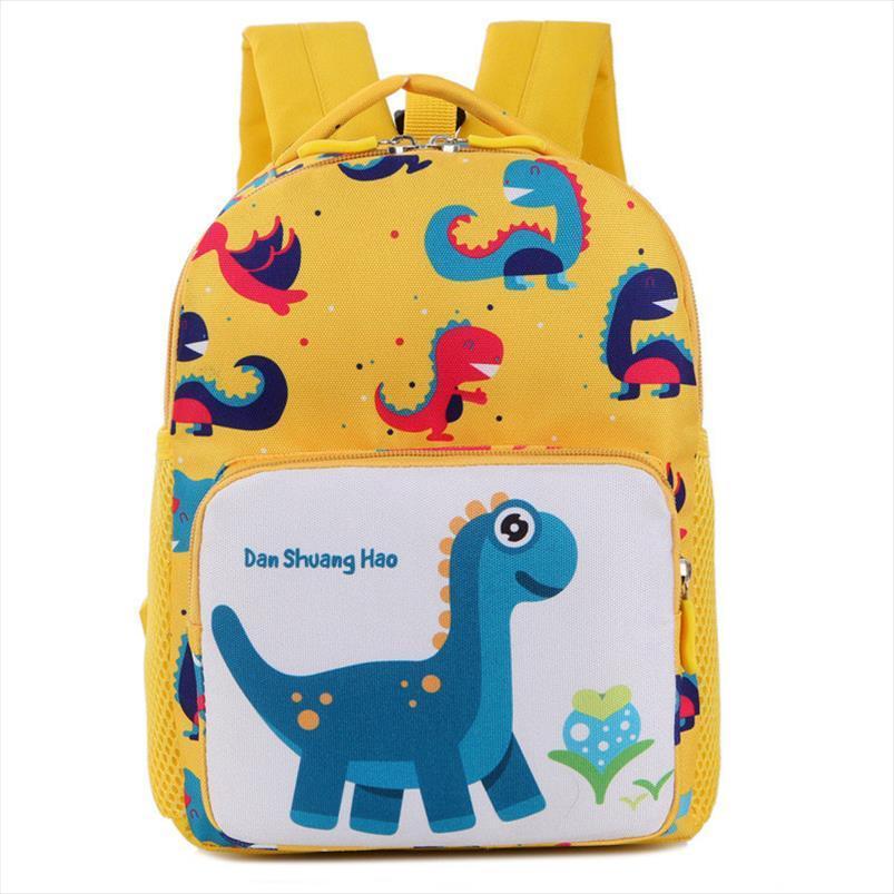 Напечатанные новые дети сумка динозавров мультфильм рюкзаки милые детские сады сумки для питомника мальчики мини дети анти потерянные школьные девочки Gavnt