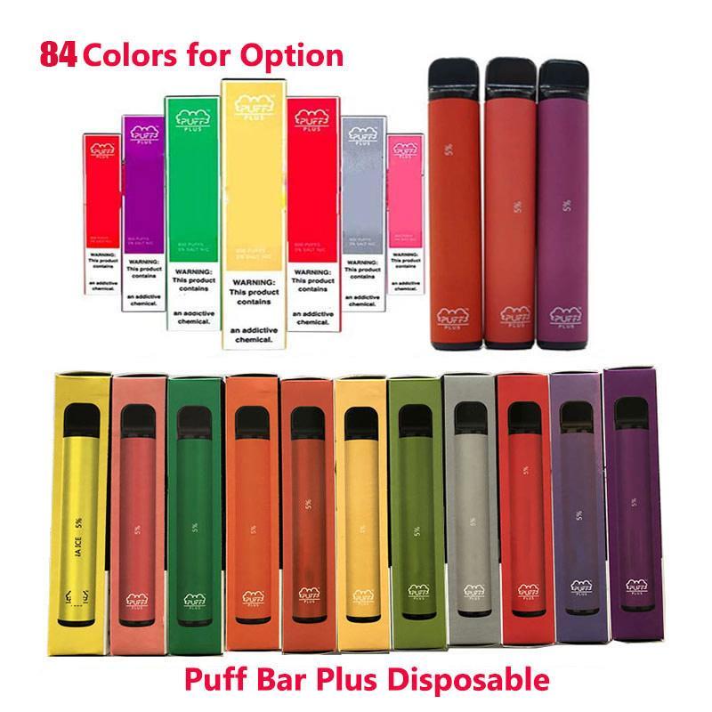 84Colors New PUFF BAR PLUS 800 + Puff Einweg Vape Cartridge 550mAh Akku 3,2 ml Pre-Filled Vape Pods Stock-Art-Vs Puff Bang xxl