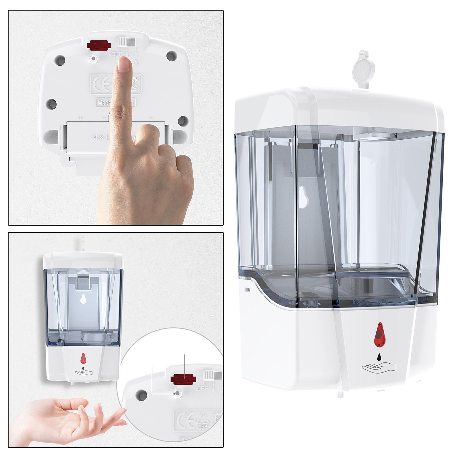 700ML Automatic Liquid Soap Dispenser Touchless Wall-mounted Home IR Sensor